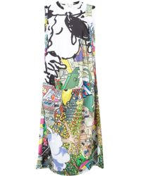 Comme des Garçons - Cartoon Cityscape Printed Dress - Lyst