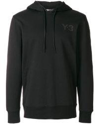 Y-3 - Logo Print Hooded Cotton Sweatshirt - Lyst