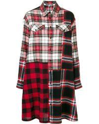 McQ - Patched Tartan Short Dress - Lyst