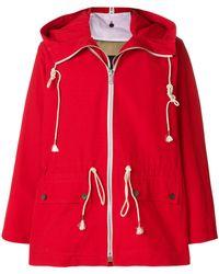 CALVIN KLEIN 205W39NYC - Hooded Raintcoat - Lyst