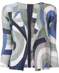 Pleats Please Issey Miyake - Printed Cardigan - Lyst