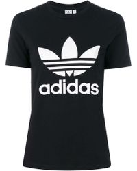 970e2305eaf9 Adidas Originals Trefoil Oversized T-shirt in Pink - Lyst