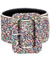 Attico En Cuir Anklet Paillettes Multicolores jzvak3V