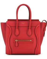 Céline - Micro Luggage Leather Bag - Lyst