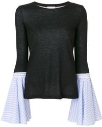 Dondup - Contrast Flared-sleeve Jumper - Lyst