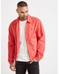 Polo Ralph Lauren Poplin Jacket Red