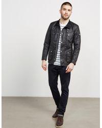 Barbour - Mens International Duke Wax Jacket Black - Lyst