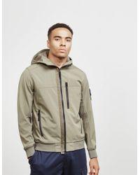 Stone Island - Mens Softshell Hooded Lightweight Jacket Green - Lyst