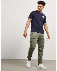 Champion - Mens Medium Logo Short Sleeve T-shirt Navy Blue - Lyst