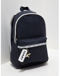 Tommy Hilfiger - Womens Logo Mini Backpack - Online Exclusive Navy - Lyst