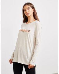Barbour - Womens International Long Sleeve T-shirt Cream - Lyst