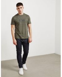 Emporio Armani - Mens Ldn Eagle Short Sleeve T-shirt - Online Exclusive Green - Lyst