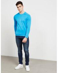 BOSS - Mens Salbo Sweatshirt Blue - Lyst