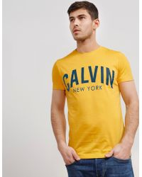 CALVIN KLEIN 205W39NYC - Mens New York Short Sleeve T-shirt Yellow - Lyst