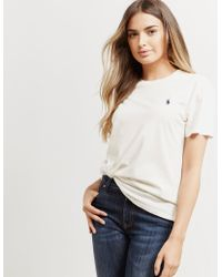 Polo Ralph Lauren - Womens Basic Pony Short Sleeve T-shirt - Online Exclusive White - Lyst