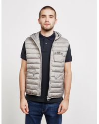 Barbour - Mens International Ouston Padded Gilet - Exclusively To Tessuti Grey - Lyst