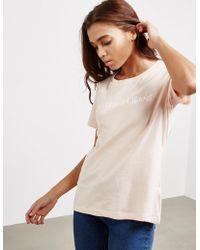 Calvin Klein - Womens Short Sleeve Logo T-shirt Pink - Lyst