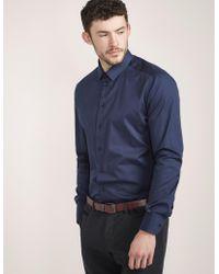 Armani - Mens Classic Shirt Navy Blue - Lyst