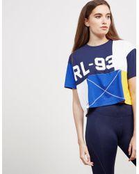 Polo Ralph Lauren - Womens Cp-93 Crop Short Sleeve T-shirt - Online Exclusive Blue - Lyst