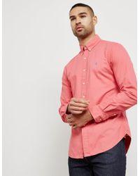 Polo Ralph Lauren - Mens Garment Dyed Long Sleeve Oxford Shirt Pink - Lyst