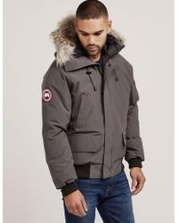 Canada Goose - Mens Chilliwack Padded Bomber Jacket Grey/grey - Lyst