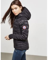 Canada Goose - Womens Brookvale Padded Hooded Jacket Graphite - Lyst