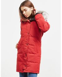 Canada Goose - Womens Shelburne Padded Parka Jacket Red - Lyst