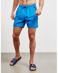 d145e7beeb7 Calvin Klein Logo Tape Swim Shorts in Orange for Men - Lyst