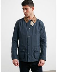 Barbour - Mens Squire Ashby Coat Navy Blue - Lyst
