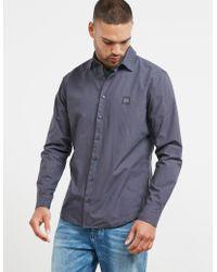 BOSS - Mens My Poplin Long Sleeve Shirt Navy Blue - Lyst