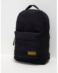 Barbour - Mens International Packaway Backpack Black/black - Lyst
