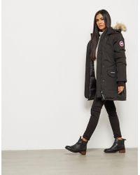 Canada Goose - Womens Trillium Padded Parka Jacket Black - Lyst
