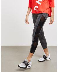 DKNY - Womens Sheer Cross Leggings - Online Exclusive Grey - Lyst