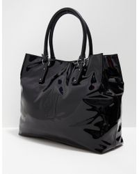 Armani Jeans - Womens Large Shopper Bag Black - Lyst