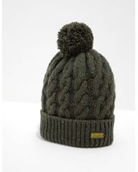 6462610b Barbour - Bobble Hat - Exclusively To Tessuti Sage/sage - Lyst