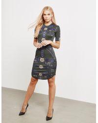 Versus - Womens Graphic Dress - Online Exclusive Khaki - Lyst