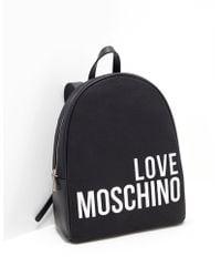 Love Moschino - Canvas Backpack Handbag - Lyst