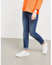 BOSS - Womens J20 Slim Jeans Navy Blue - Lyst