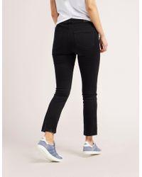 PAIGE - Womens Jacqueline Straight Jeans Black - Lyst