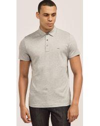 Michael Kors - Sleek Polo Shirt Grey - Lyst
