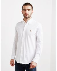 Polo Ralph Lauren - Mens Pique Long Sleeve Oxford Shirt - Online Exclusive White - Lyst