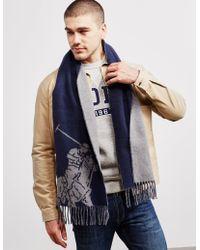 Polo Ralph Lauren - Mens Jacquard Scarf Grey - Lyst
