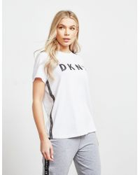 DKNY - Short Sleeve Tape T-shirt White - Lyst