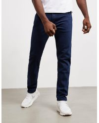 PS by Paul Smith - Tapered Stretch Jeans Navy Blue - Lyst