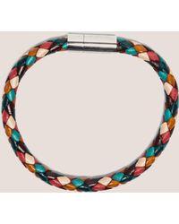 Paul Smith - Leather Plaited Bracelet - Lyst