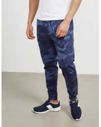 Polo Ralph Lauren - Mens Basic Fleece Track Trousers Camo/blue - Lyst