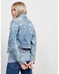 Vivienne Westwood - Womens Anglomania Wave Denim Jacket Blue - Lyst