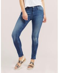 True Religion - Womens Halle Skinny Jeans Blue - Lyst