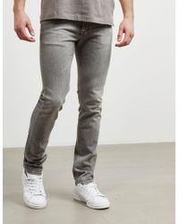 Calvin Klein - Mens Slim Straight Jeans Grey - Lyst
