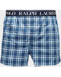 Polo Ralph Lauren - Mens Woven Check Boxer Shorts Navy Blue - Lyst